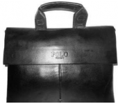 Сумка портфель с ручками мужская для ноутбука, документов Polo simple (Черный)