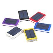 Внешний аккумулятор на солнечной батарее со светодиодным фонарем Solar power bank 20000 mAh