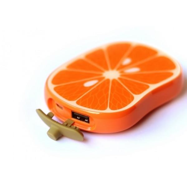 Повер банк Power Bank объем 8000 mAh дизайн апельсин Limonada A2