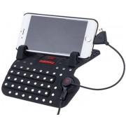 Универсальный держатель в автомобиль для смартфона с держателем провода Remax RM-CS101 RC-FC1 (Черный)