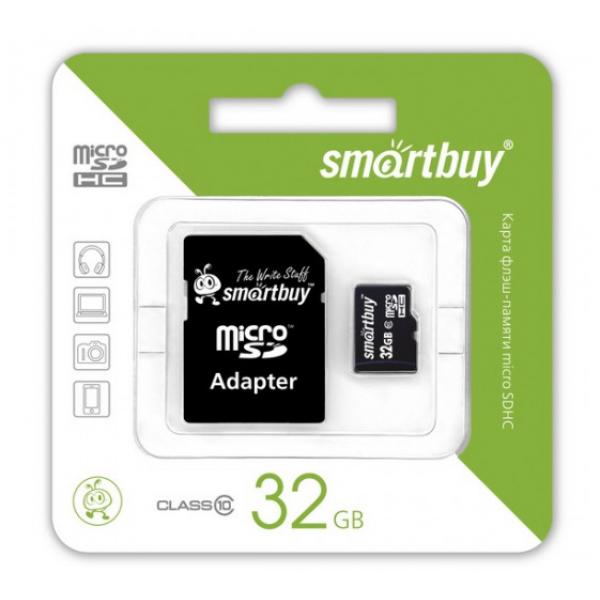 Карта памяти SmartBuy MicroSD 32 Gb Class 10 Ultra