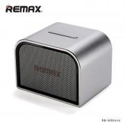 Аудио колонка Remax RB-M8 Mini Desktop Bluetooth Speaker Audio Player Sound Box Metal Boday Silver