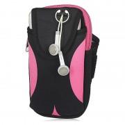 Спортивная сумка на пояс c карманом для воды (Розовый)