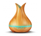 Ультразвуковой туманный увлажнитель воздуха и светильник аромадиффузор (Светлое дерево)