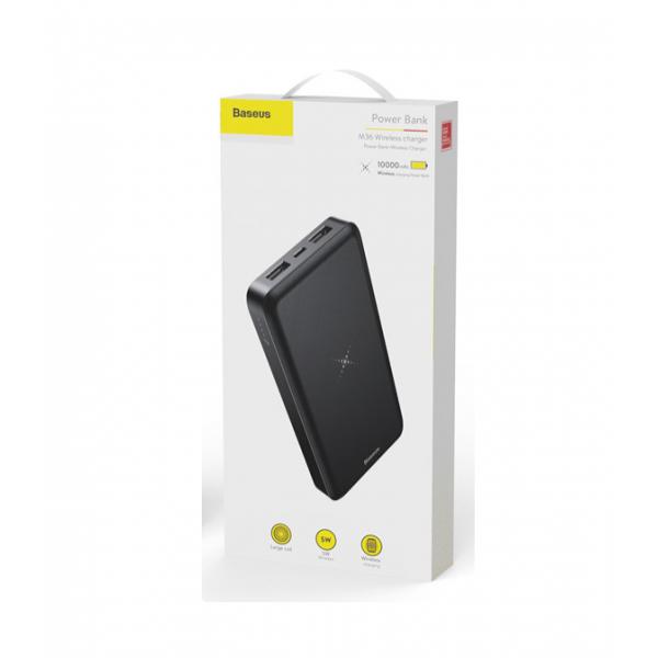 Внешний аккумулятор Baseus M36 Wireless Charger 10000 mAh PPALL-M3601 (Черный)