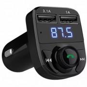 Автомобильный FM модулятор с дисплеем CAR X8 (Черный)