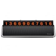Табличка с номером телефона в автомобиль Baseus Hermit ACNUM-A0S (Серебро)