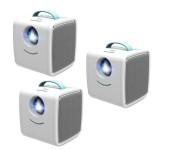 Детский LED проектор Q2 (Голубой)
