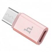 Переходник HOCO Type-C на Micro USB Adapter (Розовое золото)