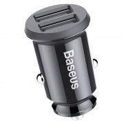 Автомобильное зарядное устройство BASEUS Grain Mini 3.1A Dual USB Smart Car Charger (Черный)