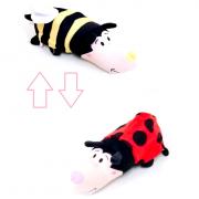 Игрушка вывернушка пчёлка и божья коровка 25х7х8 см
