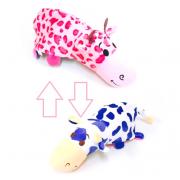 Игрушка вывернушка розовая корова и бело-синяя корова 25х7х8 см
