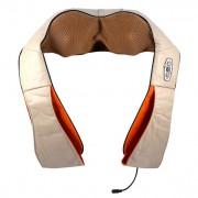 Массажер для шеи и плеч MS-090 для снятия усталости напряжения и боли в спине (Бежевый)