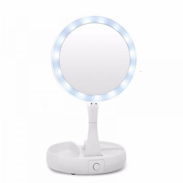 Косметическое зеркало с подсветкой My Fold Away Mirror (Белый)