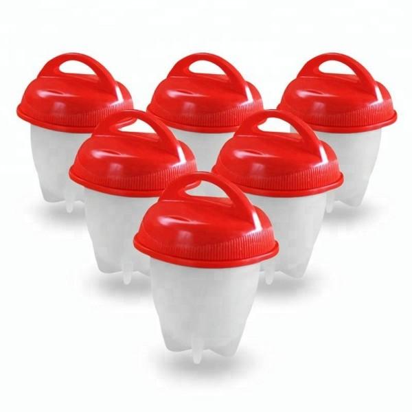Силиконовые формы для варки яиц без скорлупы (Красный)