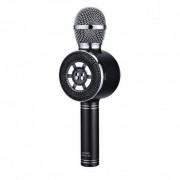 Беспроводной караоке микрофон с встроенным динамиком Wster WS-669 (Черный)