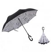Инновационный обратный зонт (Газета)