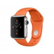 Силиконовый ремешок Sport для Apple Watch 38 40 мм (Оранжевый)
