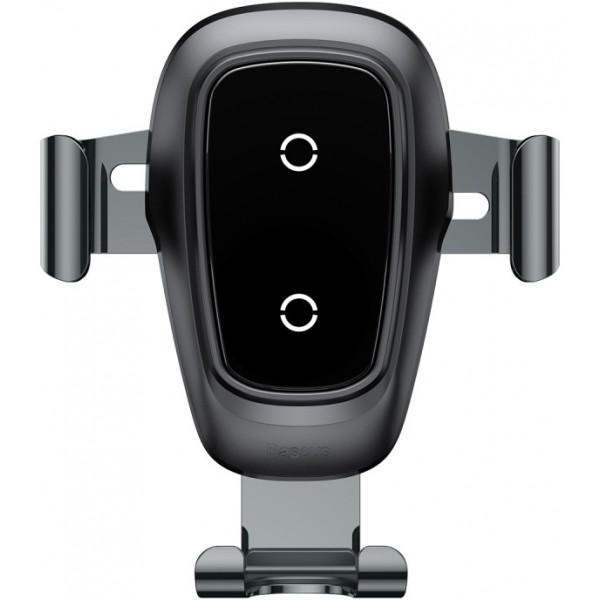 Беспроводная автомобильная зарядка Baseus Metal Wireless Charger Gravity Car Mount в воздуховод WXYL-B0A (Черный)