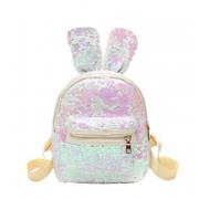 Рюкзак с пайетками ушки зайца (Белый)
