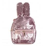 Рюкзак с пайетками ушки зайца (Розовый)