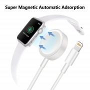 Беспроводное зарядное устройство для Apple Watch Series и зарядный кабель для iPhone 2 в 1 (Белый)