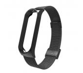 Металлический ремешок для Xiaomi Mi Band 4 (Черный)