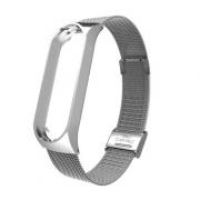 Металлический ремешок для Xiaomi Mi Band 4 (Серебро)