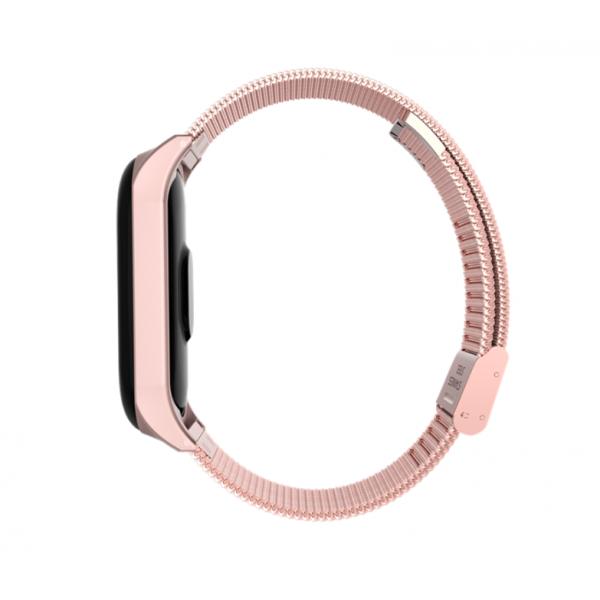 Металлический ремешок для Xiaomi Mi Band 4 (Золотой)