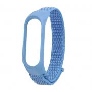 Нейлоновый ремешок для фитнес-браслета Xiaomi Mi Band 3, Mi Band 4 (Голубой)