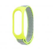 Нейлоновый ремешок для фитнес-браслета Xiaomi Mi Band 3, Mi Band 4 (Желтый)