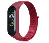 Нейлоновый ремешок для фитнес-браслета Xiaomi Mi Band 3, Mi Band 4 (Красный)