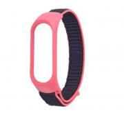Нейлоновый ремешок для фитнес-браслета Xiaomi Mi Band 3, Mi Band 4 (Красный с черным)