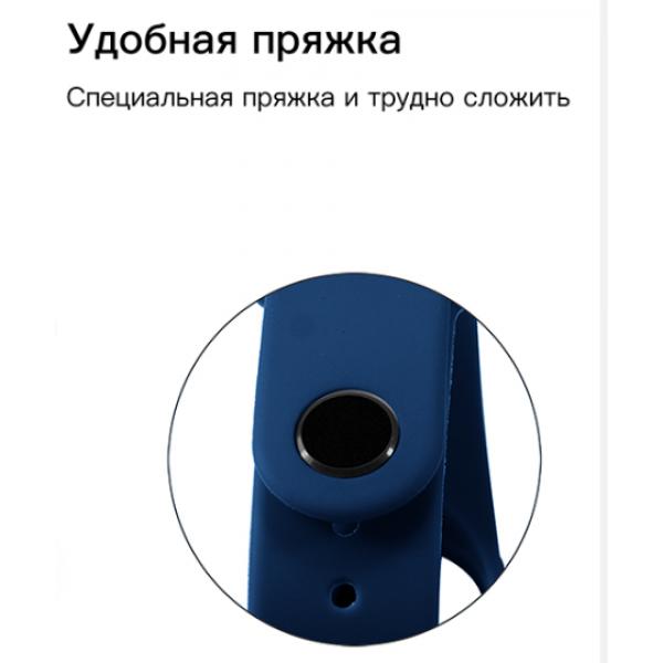 Ремешок силиконовый для Xiaomi Mi Band 3/Mi Band 4 (Черный)