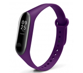 Ремешок силиконовый для Xiaomi Mi Band 3/Mi Band 4 (Фиолетовый)