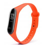 Ремешок силиконовый для Xiaomi Mi Band 3/Mi Band 4 (Оранжевый)
