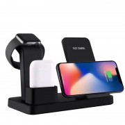 Док-станция зарядная 3 в 1 Bakeey для iPhone, Watch, Airpods (Черный)