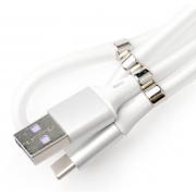 Кабель с магнитиками USB magnet MR-36 Type-C 1m (Белый)