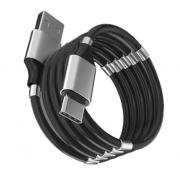 Кабель с магнитиками USB magnet MR-36 Type-C 1m (Черный)