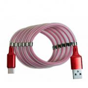Кабель с магнитиками USB magnet MR-36 Type-C 1m (Красный)