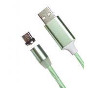 Магнитный кабель USB 360 LED Micro Usb 1000mm (Зеленый)