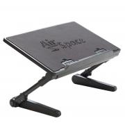Регулируемый стол для ноутбука Air Space с охлаждающим вентилятором для ноутбука (Черный)