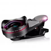 Широкоугольный макро объектив L620 для телефонов 16 мм без искажений (Черный с белым)