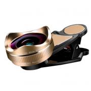 Широкоугольный макро объектив L620 для телефонов 16 мм без искажений (Черный с золотым)