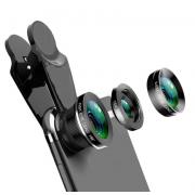 Универсальный объектив для смартфона Fisheye рыбий глаз, комплект линза для макро съемки