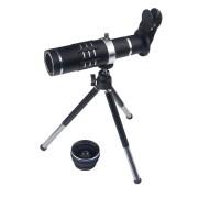 Универсальная портативная линза телескоп х18 Telephoto lens со штативом (Черный)
