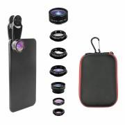 Универсальный набор объективов для камер смартфонов и планшетов 7 в 1 (Черный)
