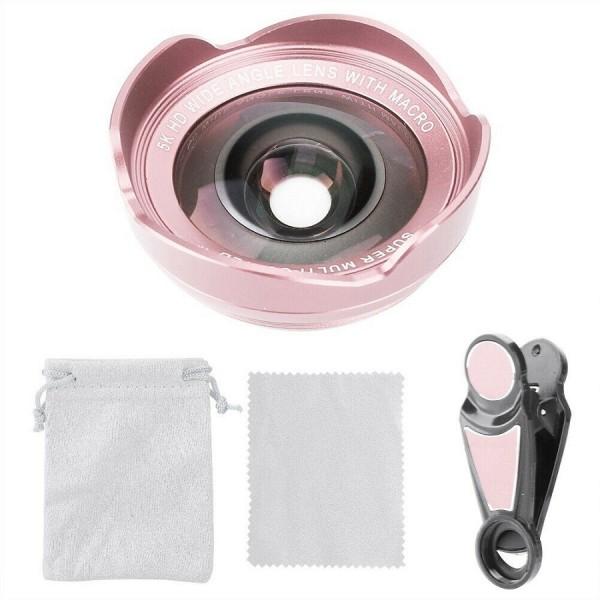 Универсальный объектив Clip Lens 5K HD (Розовый)