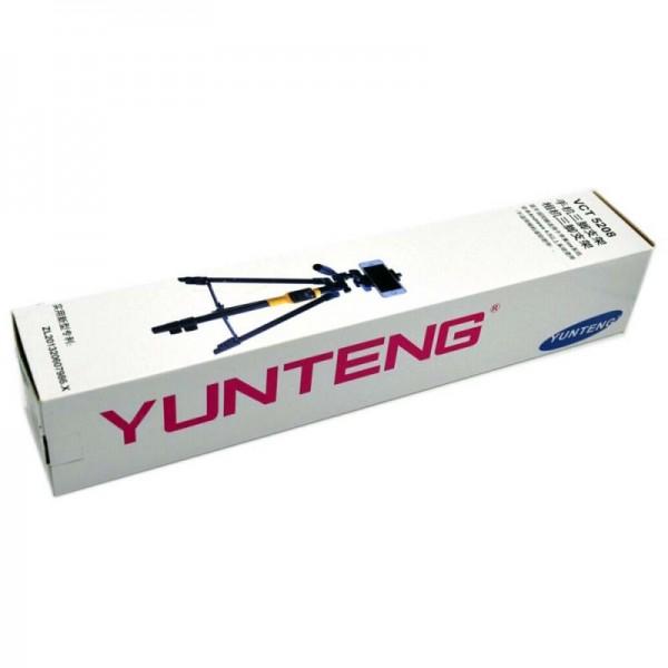 Трипод напольный Yunteng VCT-5208 с пультом (Черный)