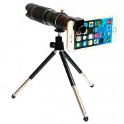 Универсальная линза телескоп для мобильного телефона с треногой 36-кратный Zoom (Черный)